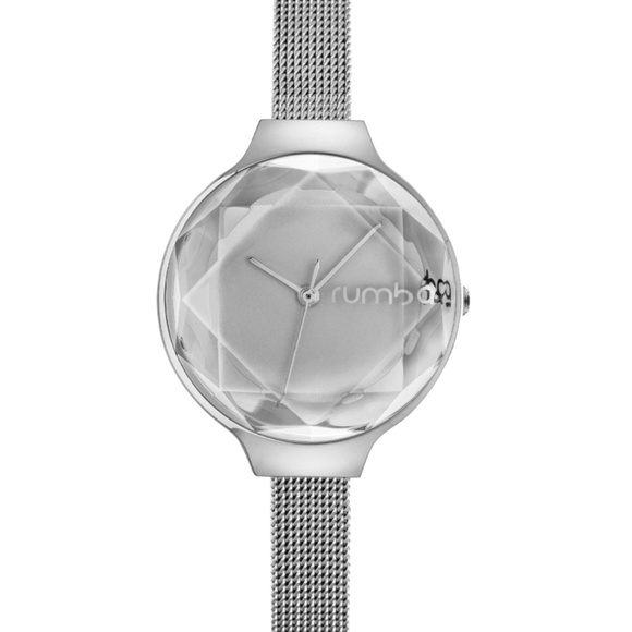 Rumba Time Accessories - Rumba Time Orchard Gem Mesh Silver Watch